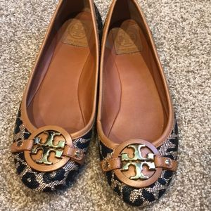 Tory Burch  Leopard woven shoes